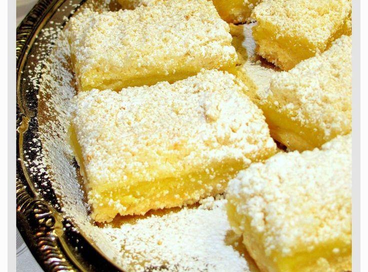 Streusel-Topped Lemon Shortbread Bars   Cat's Cakes & Pies   Pinterest