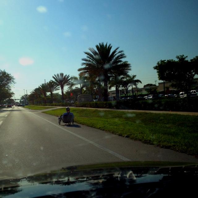 Riding  around Boca Raton