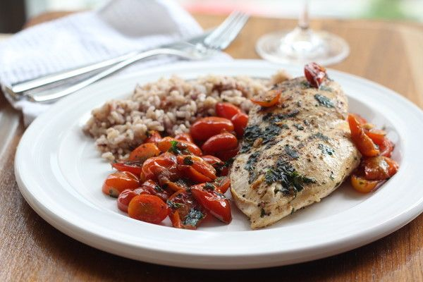 Chicken with Tomato Herb Pan Sauce | Recipe