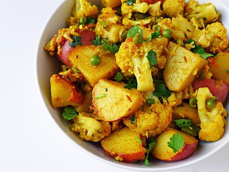 Aloo Gobi; Potato & Cauliflower | Food | Pinterest