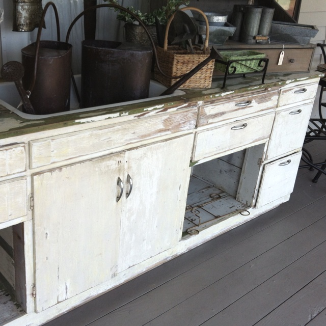 Salvaged Kitchen Cabinets And Sink Make A House A Home Pinterest