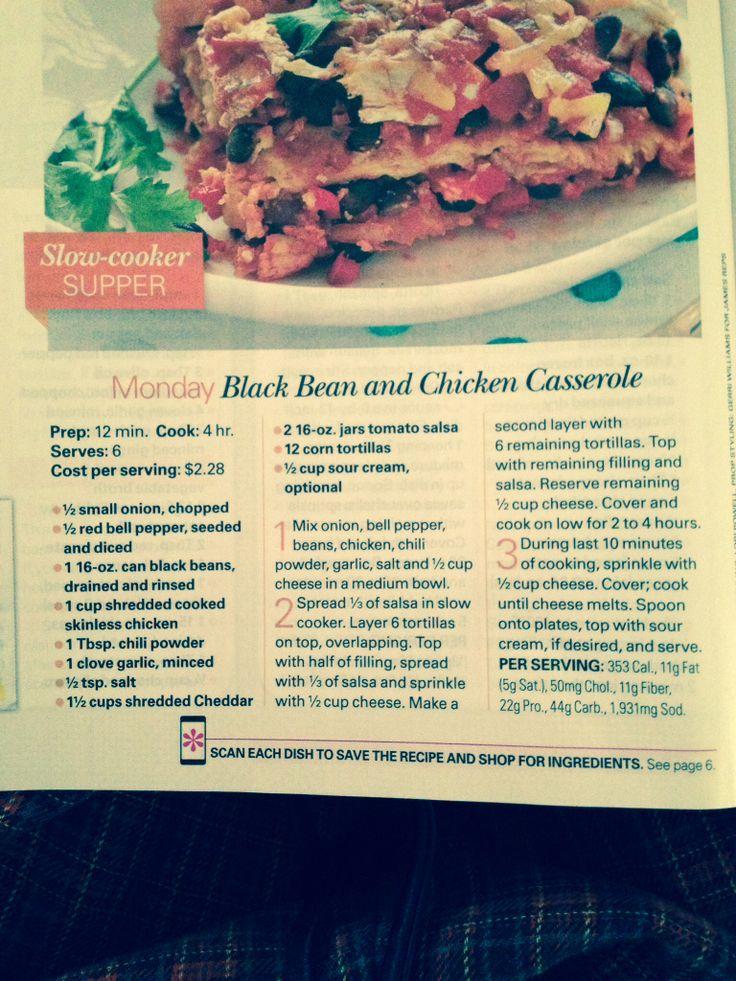 Black bean and chicken casserole | Chicken | Pinterest