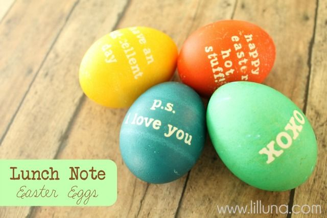 Lunch Note Easter Eggs - perfect for the hard-boiled egg lovers in your family and super easy. #easter #egg