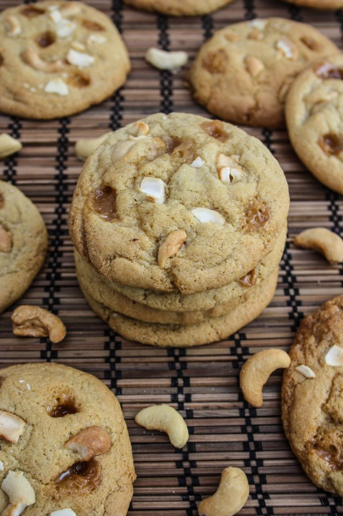 Salted Caramel Cashew Cookies (a.k.a. how I'm going to use up the big ...