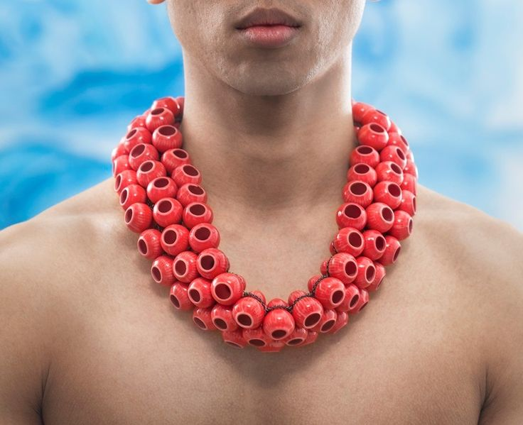 "Peter Hoogeboom, Necklace, ""red lantern"" 2014"