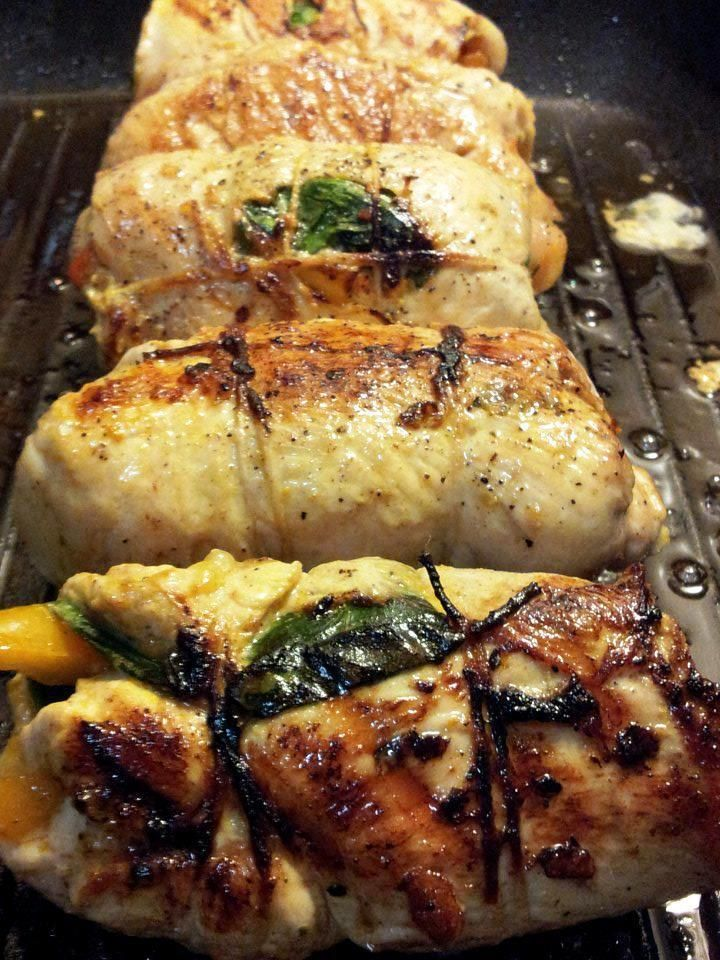 Stuffed Sofrito Chicken with Spinach | Recipes | Pinterest
