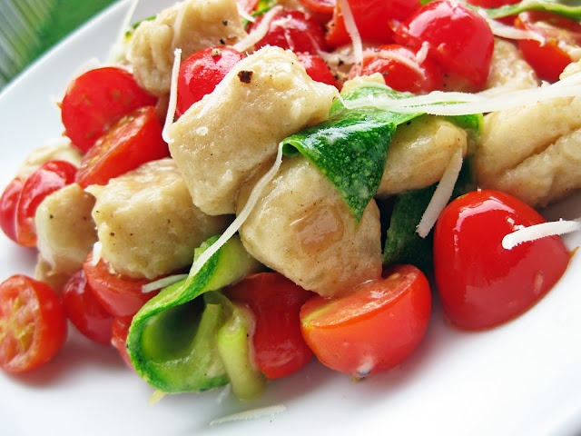 ... of honey: Whole Wheat Gnocchi with Summer Vegetables and Brown Butter