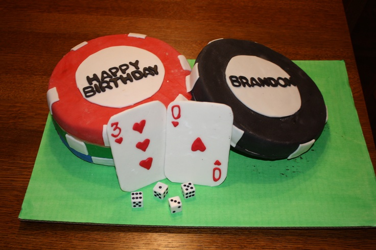 Husband s 30th birthday poker chip cake 30th Birthday ...
