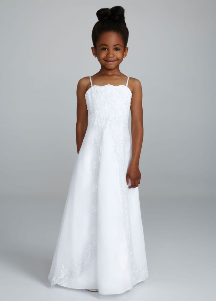 David 39 s bridal flower girl dress purple wedding stuff for Davidsbridal com wedding dresses