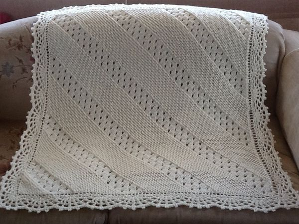 Crocheting Edges Of Knitting : Knit Blanket with crocheted edging knitting Pinterest