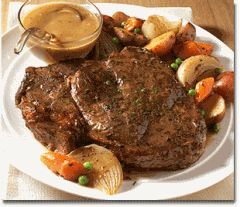 Bison Roast with Vegetables | Bouffe | Pinterest
