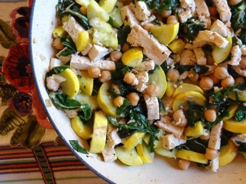 lemony chick pea + tofu stir fry | Healthy food that LOOKS delish ...