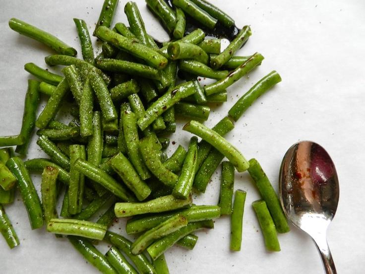 Balsamic Roasted Green Beans by Rachel Schultz