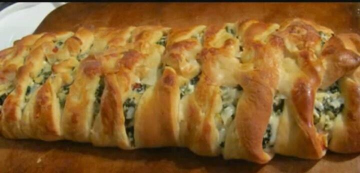 Spinach artichoke braided bread | Food | Pinterest
