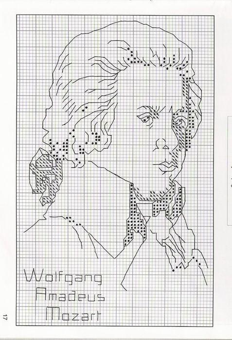 Пушкин схема вышивки крестом 69