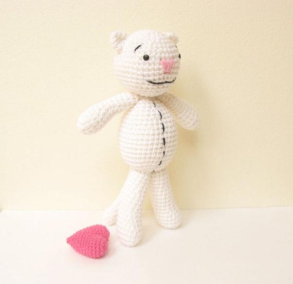 Binoo Inspired Crochet Cat  Amigurumi Made to Order by cherrytime, $32.50 for nina