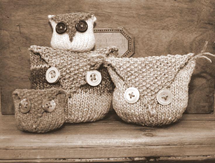 Owl Bag Knitting Pattern : Knitted owl bags Hoot Hoot Pinterest