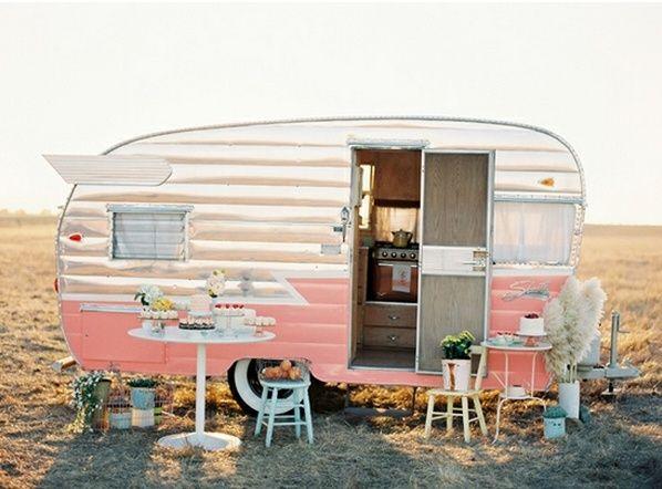 Pink Vintage Mini Trailer Home Decor Farming Pinterest