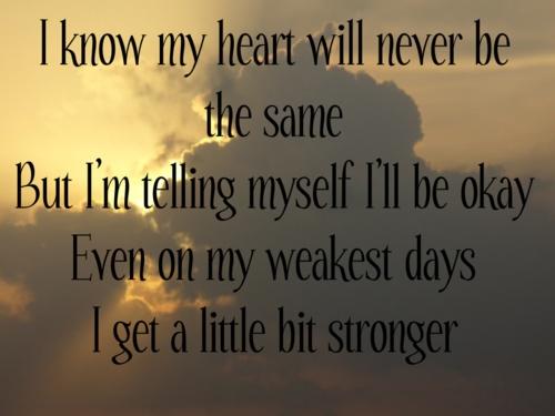 SARA EVANS LYRICS - A Little Bit Stronger