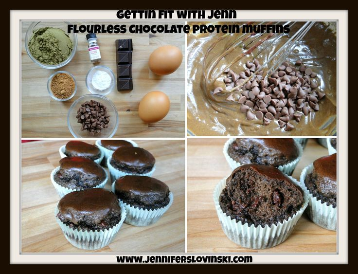 Flourless Chocolate Protein Muffins - 1/4 cup hemp protein powder (30 ...