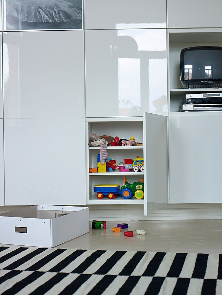 Besta Wall Unit With Door :  toys, an IKEA wallmounted BESTA storage unit is a good option