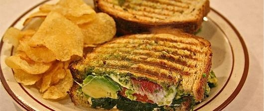 Veggie pesto panini-melt - new menu item | Food! | Pinterest