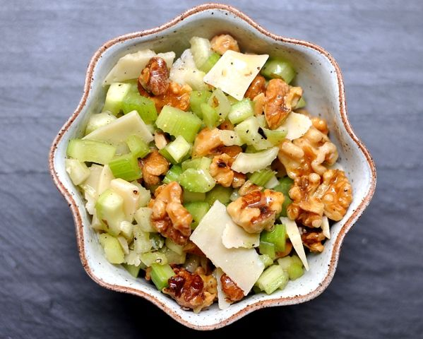 Celery Salad with Walnuts and Parmesan. I like to add dried figs and ...