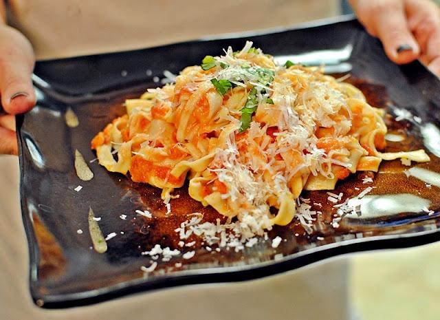 ... With Fresh Tomato Sauce And Garlic Basil Oil Recipes — Dishmaps
