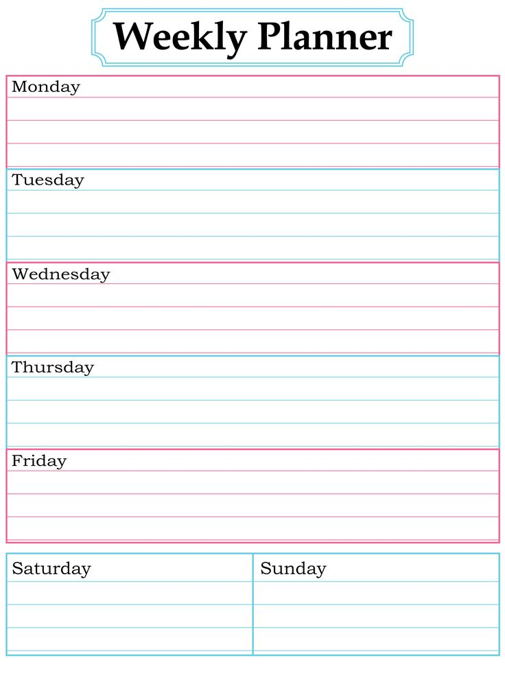 25+ Unique Weekly Planner Template Ideas On Pinterest | Weekly U2026