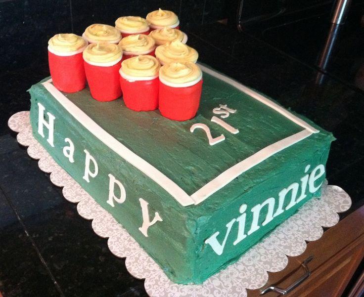 Beer Pong Cake   Birthday Cakes Cake s & Cupcakes ...