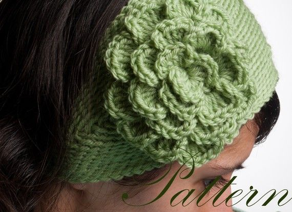 PDF Pattern Simple Crochet Headband with Large Flower in ...