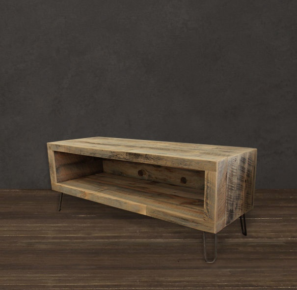 Reclaimed Wood Media Console Tv Stand 56 Long