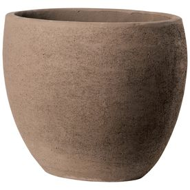 �12-in H x 15-in W x 15-in D Brown Clay Outdoor Pot