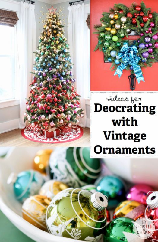 Ideas  for  Decorating  with  Vintage  Ornaments