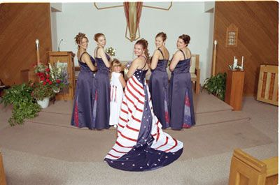 4th of july wedding gowns