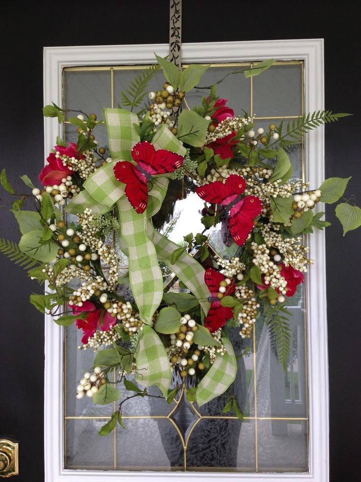 New Spring Wreath For Front Door Crafts Pinterest