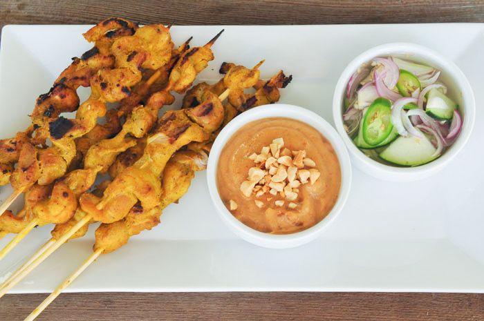 Sate Gai (Chicken Satay) | Thai Food (Real Authentic Thai) | Pinterest