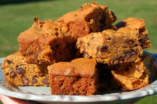 Pumpkin Chocolate Chip Spice Bars | Sweet Tooth | Pinterest