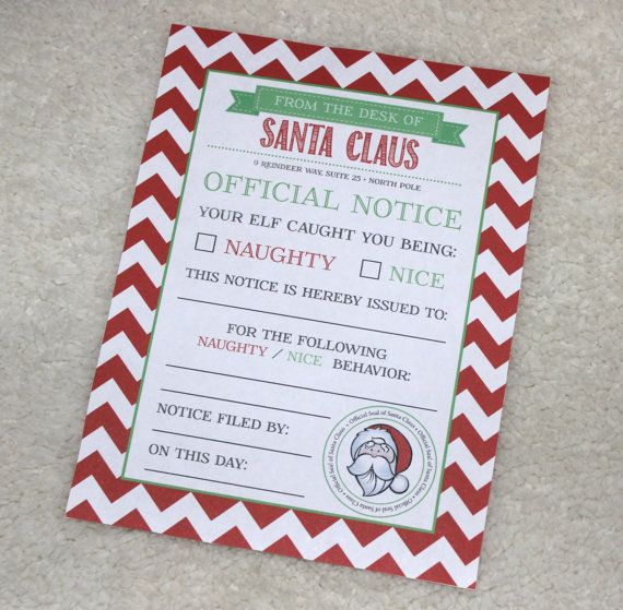 ORIGINAL Elf On The Shelf Behavior Letter | Elf on the Shelf ...