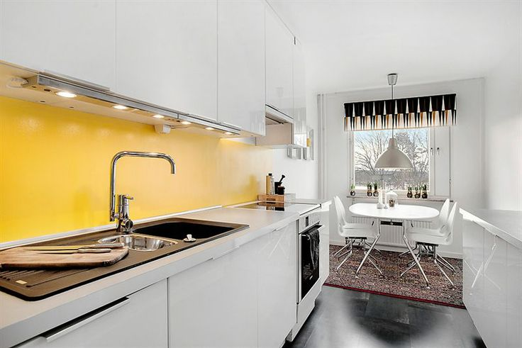 white kitchen yellow backsplash kitchen ideas pinterest
