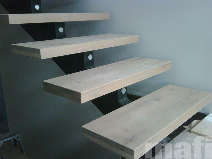 Best Prefab Timber Steps On Metal Beam Basement Stairway 400 x 300