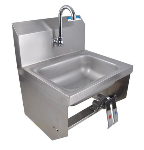 Hand Sink Commercial : Commercial Kitchen Stainless Steel Knee Operated Hand Sink New
