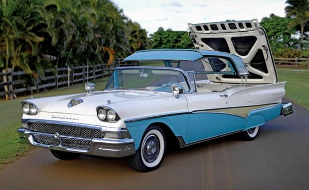 58 Ford Hardtop Convertible Autos Post