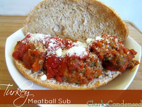 Herbed turkey meatball subs -- healthier than a traditional sub, this ...