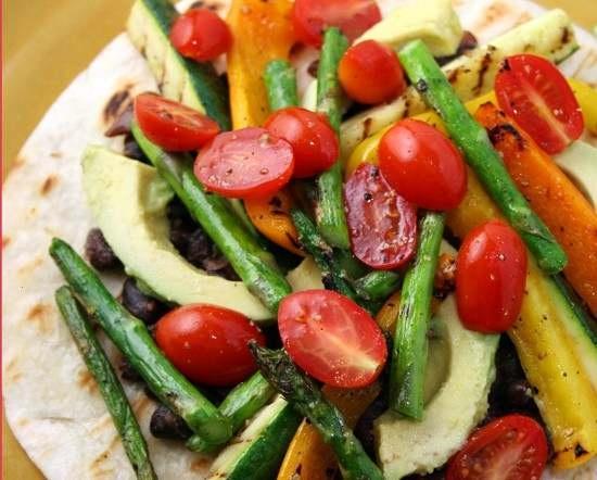 Grilled Vegetable Tostadas | food | Pinterest