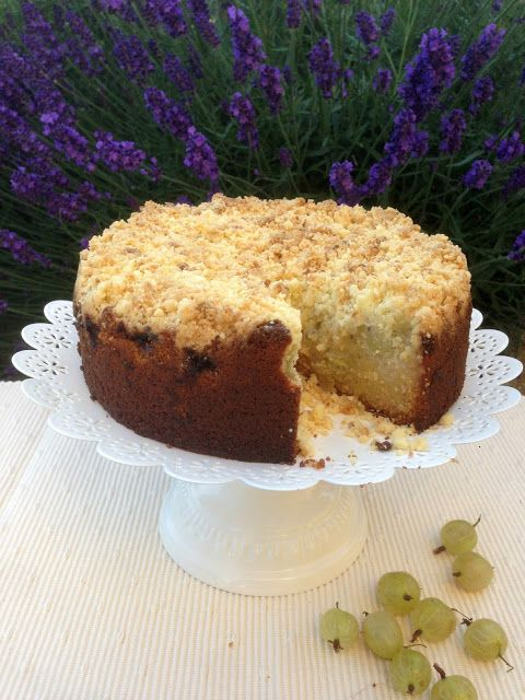 katie's kitchen journal: gooseberry and elderflower cake
