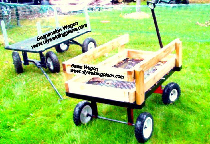 basic wagon and full suspension wagon    garden cart  diy