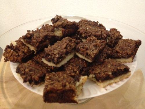 Chocolate Bourbon Pecan Bars | April | Pecan Month | Pinterest