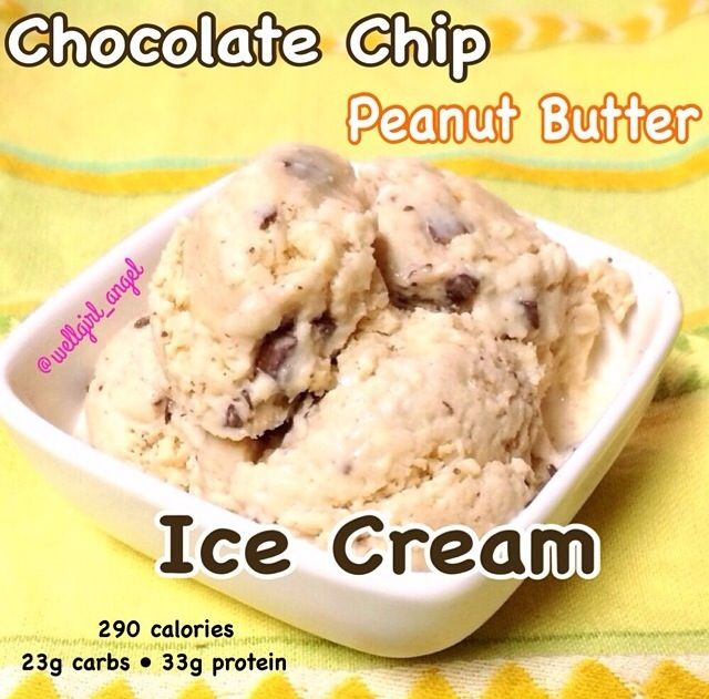 "Chocolate chip peanut butter ""ice cream"" (recipe credit: wellgirl ..."
