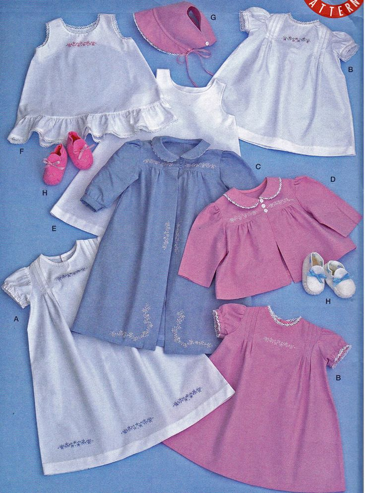 Sewing pattern vintage 1948 style baby layette clothes bonnet booties